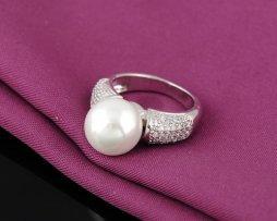Anillo-plateado-estilo-perla-grande