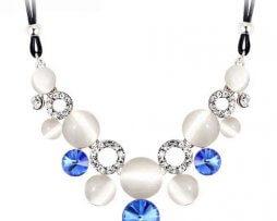 collar-rinstone-gemas-azul-tono-plateado