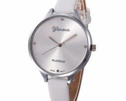reloj-cuero-blanco-plateado-estilo-clasico
