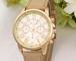 reloj-cronografo-cuero-beige