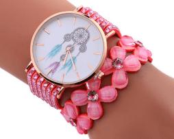 reloj-rinestone-flores-atrapa-sueños-rosado